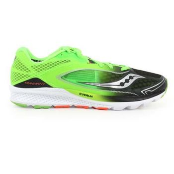 【SAUCONY】KINVARA 7 男自然系列慢跑鞋- 路跑 螢光綠黑