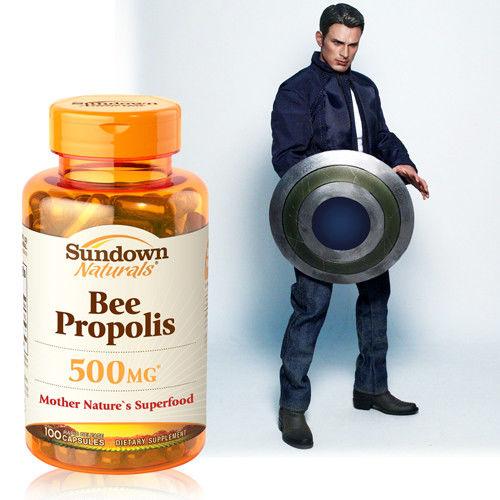 【美國Sundown日落恩賜】四倍濃縮蜂膠膠囊x5瓶(100粒/瓶)