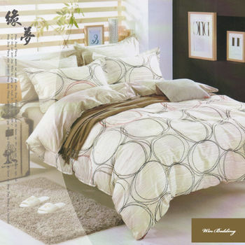 【韋恩寢具】純棉兩用被鋪棉床包組-雙人加大/緣夢