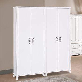 【時尚屋】[G16]艾蜜麗5尺亮烤白衣櫥G16-015-10