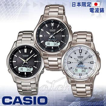 【CASIO 卡西歐】日本內銷款_電波_太陽能_鈦金屬錶帶男錶(LCW-M100TD)