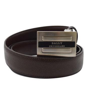 BALLY 6189528 時尚配件 都會皮革雙面皮帶.深咖 110CM