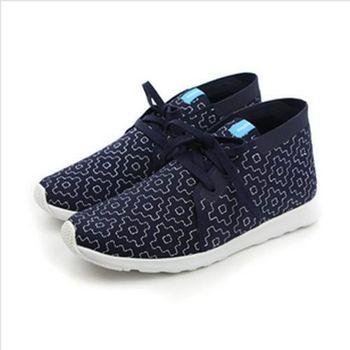 native APOLLO CHUKKA EMBROIDERED 洞洞鞋 深藍 男女款 no438