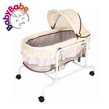 【BabyBabe】電動水平搖床-黃色小花