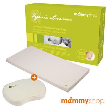 媽咪小站-有機棉系列嬰兒護脊床墊3.5cm(M)+護頭枕