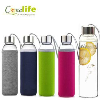 【Conalife】冷熱兩用玻璃水瓶550ml (2入)