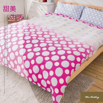 【韋恩寢具】純棉兩用被鋪棉床包組-雙人加大/甜美生活
