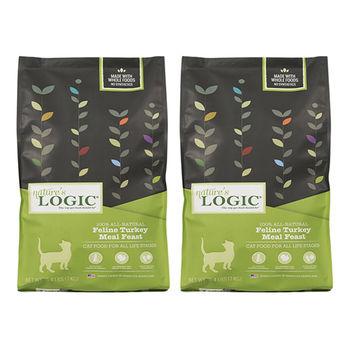 【Natures Logic】自然邏輯 低敏天然糧 全貓火雞肉配方 15.4磅 X 2包