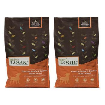 【Natures Logic】自然邏輯 低敏天然糧 全犬鴨肉+鮭魚配方 15.4磅 X 2包