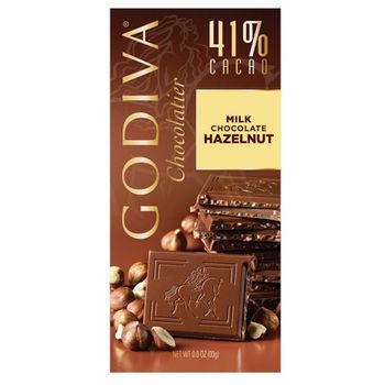 【GODIVA】41%榛果牛奶巧克力磚