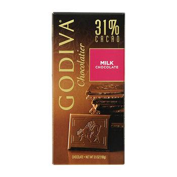 【 GODIVA】31%牛奶巧克力磚 (100g/盒)