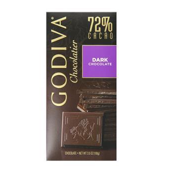 【GODIVA】72%黑巧克力磚