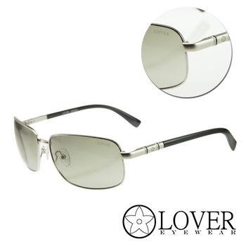 【Lover】精品長方金屬框墨綠太陽眼鏡(9103-C02)