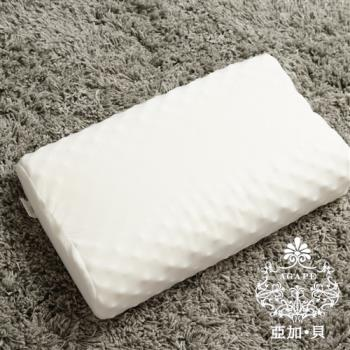 【AGAPE亞加‧貝】《100%天然乳膠枕》特殊透氣孔表面設計 具散熱效果 人體工學設計 良好的支撐性(百貨專櫃同款)