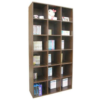 【頂堅】高180公分(18格)書櫃/收納櫃/置物櫃(有背板)-二色可選