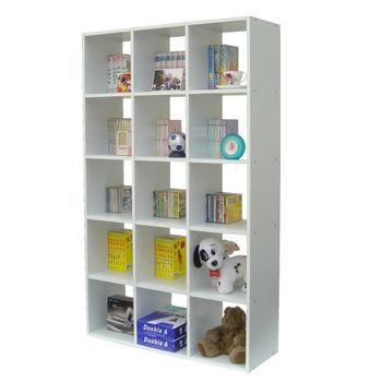 【Dr. DIY】15格(無背板)書櫃/收納櫃/置物櫃(二色可選)