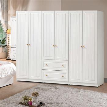 【時尚屋】[G16]鄉村風7尺純白衣櫥G16-019-5