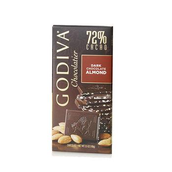 【GODIVA】72%杏仁黑巧克力磚