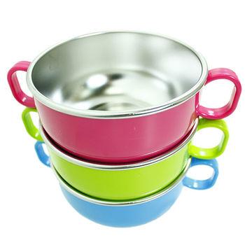 【美國 Innobaby】不銹鋼雙握把餐碗(共三色可供選擇)