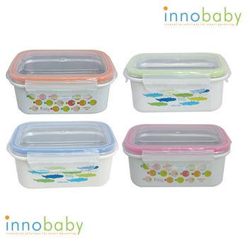 【美國 Innobaby】不鏽鋼雙層保鮮盒/便當盒(4色任選)