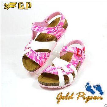 【GP】兒童柏肯鞋31-35尺碼-B553-44 亮粉色 共二色