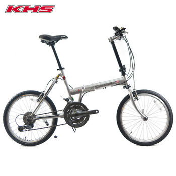 KHS-功學社 F20-T23 20吋鉻鉬鋼24速後避震折疊單車-龍銀