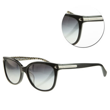 【COACH】優雅漸層藍色黑框太陽眼鏡(HC8132F-526111)