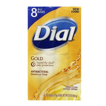 【美國 Dial 黛雅】抗菌香氛皂/9組箱購-黃金香皂(4oz*8塊*9組)