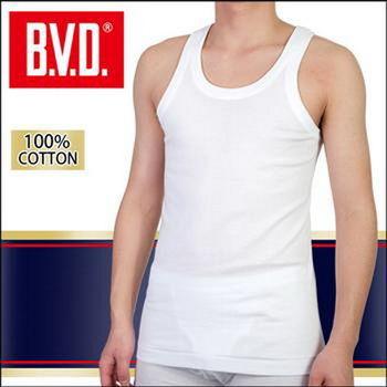 【BVD】100% 純棉背心內衣台灣製造