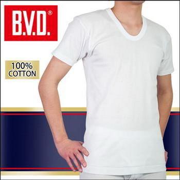 【BVD】100% 純棉男短袖U領衫台灣製造