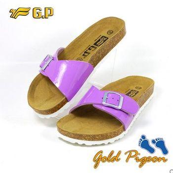 【G.P 休閒個性柏肯鞋】W751-41 紫色 (SIZE:35-39 共二色)