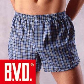 【BVD】100%純棉原染四角平口褲