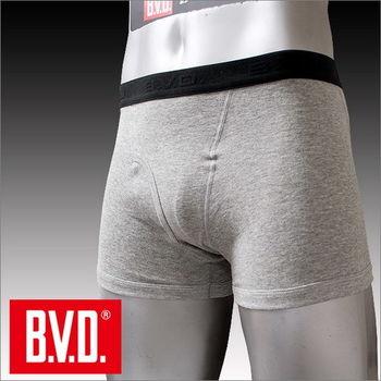 【BVD】100% 純棉男彩色平口褲(灰/黑 色 ) 台灣製造