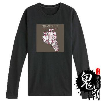 【鬼潮】JA008(復古質感櫻花偉士牌長袖T恤)