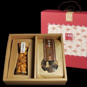 《十翼饌》上等海陸臻賞禮盒(新社香菇+北海道干貝)/盒