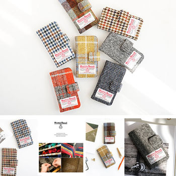 【韓國創意品牌 invite.L】Apple iPhone6 Plus / 6S Plus 專用皮套 Harris Tweed 羊毛材質 卡片槽設計