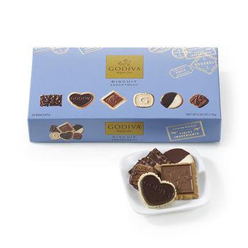 【 GODIVA】巧克力餅乾系列-精選巧克力餅乾禮盒23片裝