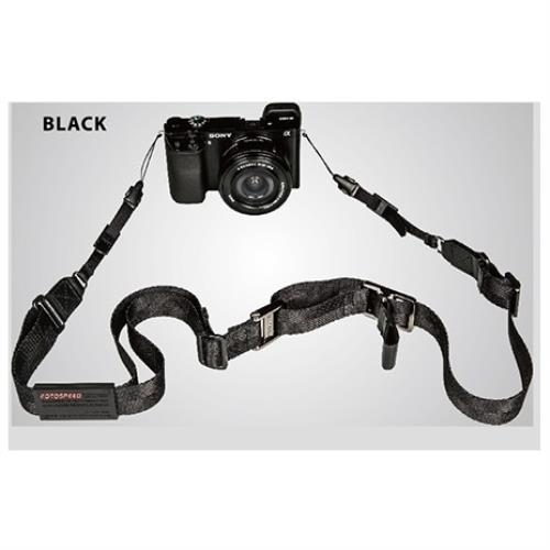 FOTOSPEED F9 類單眼相機背帶~附機身吊繩~黑色