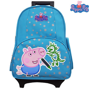 【Peppa Pig 粉紅豬】喬治可拆式鋁合金拉桿書包302C(恐龍款/氣球款_PP-5722)佩佩豬