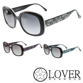 【Lover】精品大理石邊紋路太陽眼鏡(9351-三色選擇)