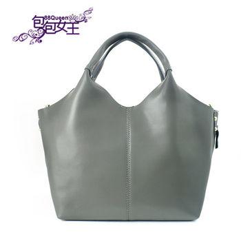 【88Queen❤包包女王】真皮★時尚牛皮兩用包-灰色