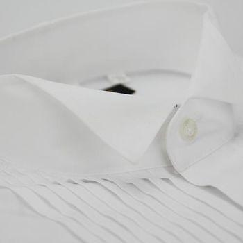 【金安德森】白色禮服領窄版長袖襯衫
