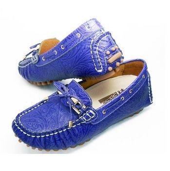 諾曼地華麗牛皮豆豆增高鞋