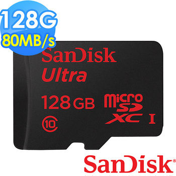 【SanDisk】Ultra microSD UHS-I 128GB 記憶卡 (公司貨) 80MB/s