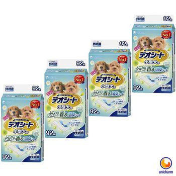 【Unicharm】日本消臭大師 小型犬狗尿墊-森林香 M92 X 4包