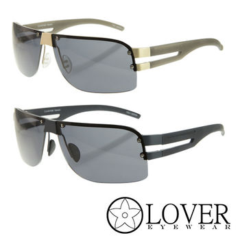 【Lover】精品飛行款半框太陽眼鏡(L-8461 兩色選擇)