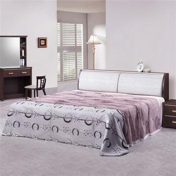 時尚屋 [G16]榭爾曼6尺胡桃加大雙人床G16-047-2+047-3不含床頭櫃-床墊