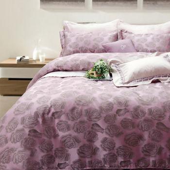 R.Q.POLO 醉戀花 頂級珍珠緹花絲光棉-雙人標準/兩用被床包四件組(5X6.2尺)