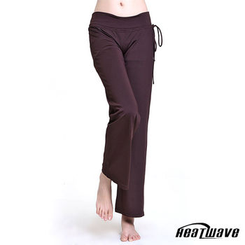 Heatwave 機能瑜珈/韻律褲-長褲-舒放純咖-70192