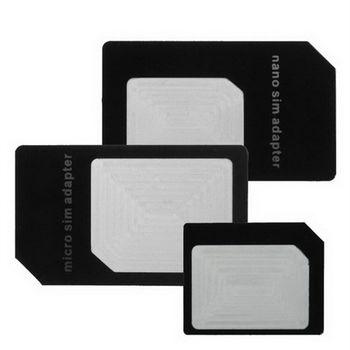 [ZIYA] 智慧型手機/平板電腦 SIM 轉接卡 (大+中+小 X3入)(顏色隨機)